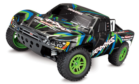 68054-1: Traxxas Slash 4x4 1/10 Scale 4wd Short Course Truck (Green)*