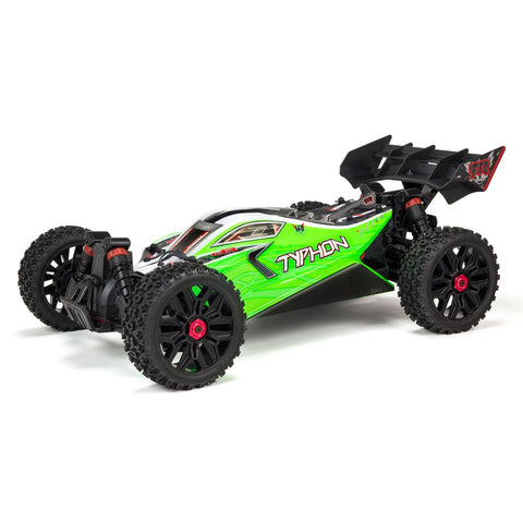 ARRMA 1/8 TYPHON Mega 550 Brushed 4WD Speed Buggy RTR, Green*