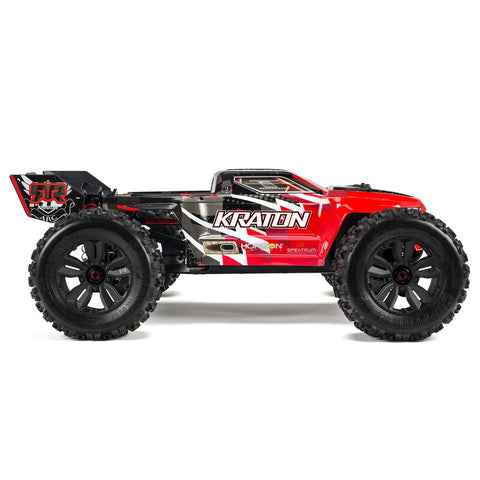 ARRMA 1/8 Kraton 6S BLX 4WD Brushless Speed Monster Truck with Spektrum RTR, Red