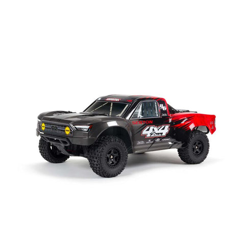 ARRMA 1/10 SENTON MEGA 550 Brushed 4WD Short Course Truck RTR, (Red/White)