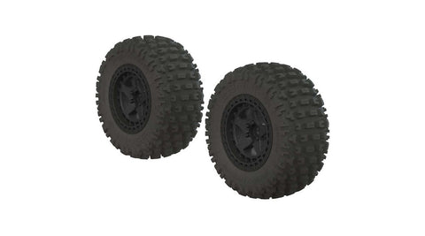 ARRMA 1/10 dBoots Fortress SC 2.2/3.0 Pre-Mounted Tires, 14mm Hex, Black (2) (ARAC9630)