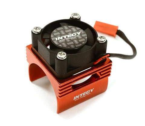 INTEGY Brushless Motor Heatsink+Cooling Fan 17, 000rpm for 1/16 E-Revo VXL & Slash VXL (C28369RED)