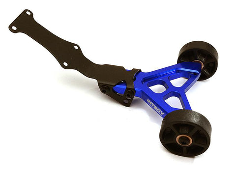 Integy Billet Machined Wheelie Bar for 1/16 Traxxas E-Revo, Summit & Slash VXL (C28679BLUE)