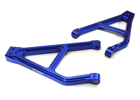 INTEGY Billet Machined Rear Upper Suspension Arms for Traxxas 1/10 E-Revo 2.0 (C28682BLUE)