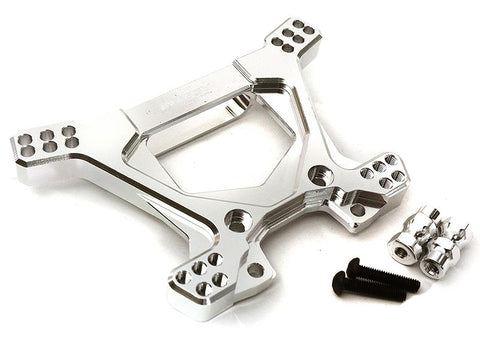 Billet Machined Alloy Rear Shock Tower for Traxxas 1/10 Rustler 4X4 C28740SILVER