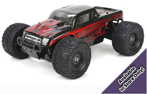 *ECX 1/18 Ruckus 4WD Monster Truck RTR, Black/Red (Available In-Store Only)