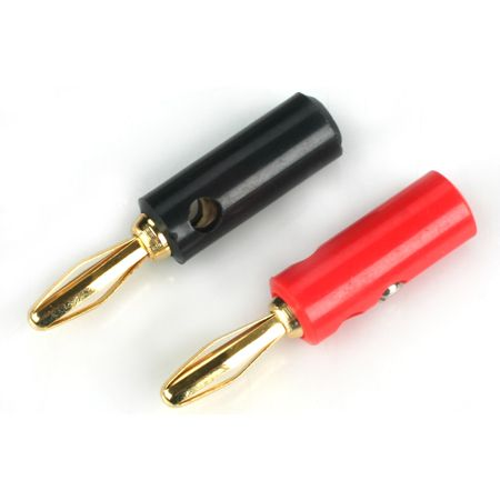 E-FLITE Gold Banana Plug Set with Screws (EFLA234)