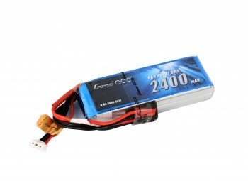 Gens ace 2400mAh 7.4V RX 2S1P Lipo Battery Pack with JST-SYP Plug