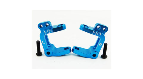 Aluminum Caster Blocks (Blue): ECX 2wd