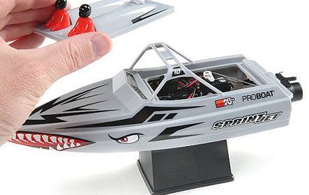 "ProBoat Sprintjet 9"" Self-Righting Jet Boat Brushed RTR, Silver"