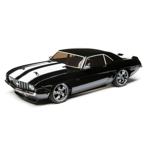 LOSI 1/10 1969 Chevy Camaro V100 AWD Brushed RTR, Black