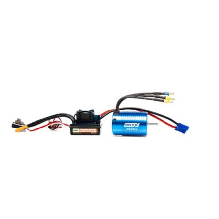 Onyx 1/10 4-Pole ESC/Brushless Motor Combo, 4000Kv: 3.5mm Bullet, EC3