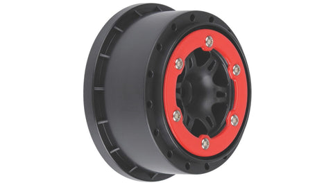 Pro-Line Sixer 2.2/3.0 Red/Black Bead-Loc R Wheels(2):SLH* (PRO271504)