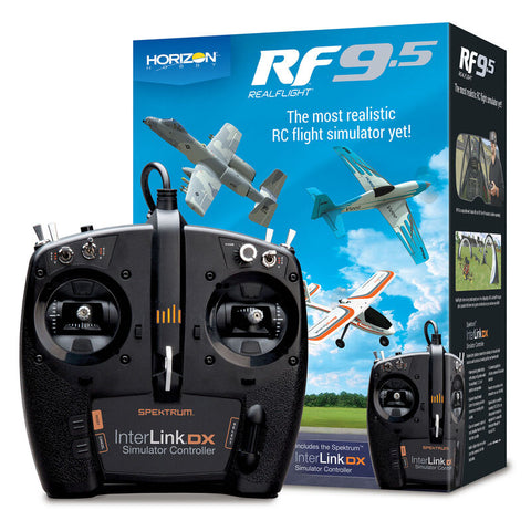 REAL FLIGHT 9.5 Flight Simulator with Interlink Controller (RFL1200)*
