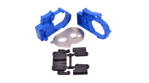 RPM Gearbox Housing and Rear Mounts, Blue: TRAXXAS 2WD Vehicles (RPM73615)