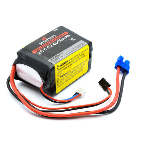 SPEKTRUM 4000mAh 2S 6.6V LiFe Receiver Battery (SPMB4000LFRX)