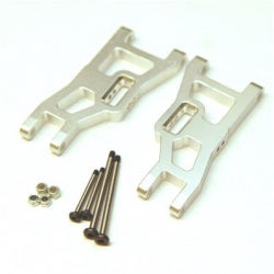 STRC Aluminum Front A-Arm Set For Traxxas Slash/Stampede/Rustler (1 PAIR) Silver (ST3631XS)
