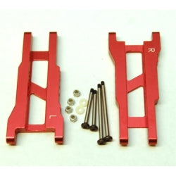 STRC CNC Machined Aluminum Rear A-Arm Set (W/Steel Hinge-Pins) For Traxxas Slash (Red)