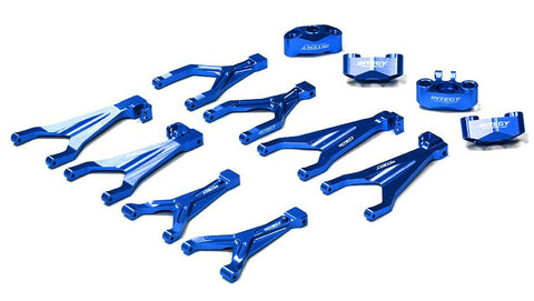 Integy Billet Machined Type IV Suspension Conversion Kit for 1/16 Traxxas E-Revo (T3986BLUE)
