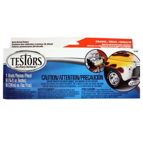 Testors Auto Detail Paint Set (TES9120)