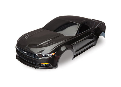 8312X: Traxxas Ford Mustang Black Painted Body with Decals