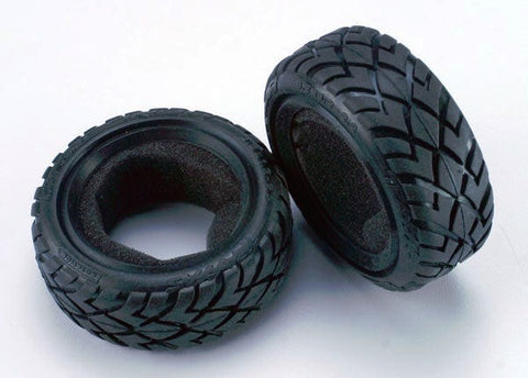 "2479: Traxxas Tires, Anaconda® 2.2"" (wide, front) (2)/foam inserts (Bandit) (soft compound)"