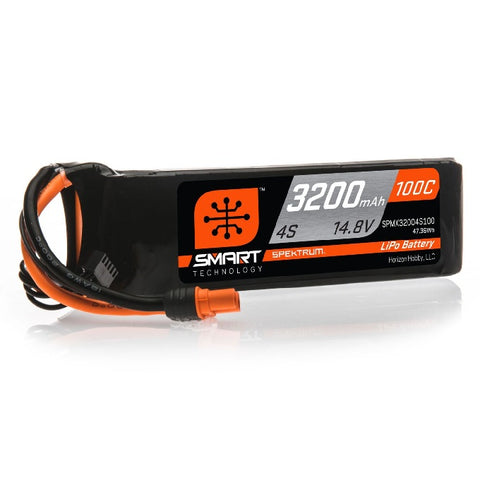 Spektrum 14.8V 3200mAh 4S 100C Smart LiPo Battery: IC3