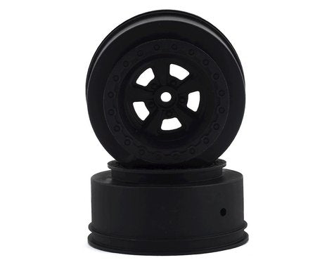 Team Associated DR10 Drag Racing Rear Wheels (Black) (2) (ASC71078)