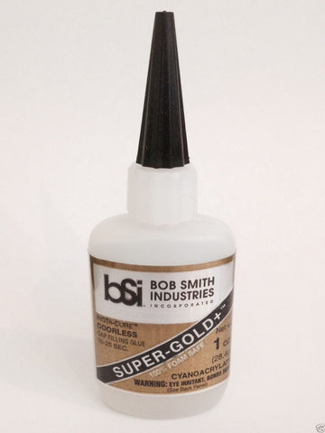*BOB SMITH Super-Gold+ Gap Filling Odorless Foam Safe CA Glue 1/2oz (BSI-126)