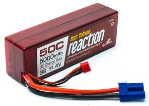 Dynamite Reaction HV 3S HD 5000mAh 50C 11.4V LiPo, Hardcase: EC5