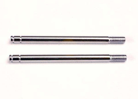 1664: Traxxas Shock Shafts, Steel, Chrome Finish (Long)(2)