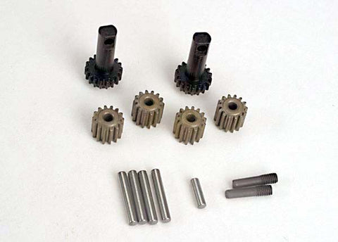 2382: Traxxas Planet Gears (4)Planet Shafts (4)/ Sun Gears (2)/Sun Gear Alignment Shaft (1)