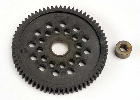 3166: Traxxas Spur Gear (66-Tooth) (32-Pitch) w/Bushing