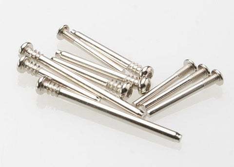 3640: Traxxas Suspension screw pin set, steel (hex drive)