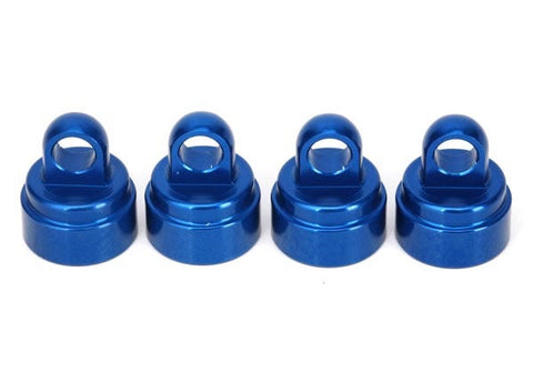 3767A: Traxxas Shock Caps, Aluminum (blue-anodized) (4) (fits all Ultra Shocks)*