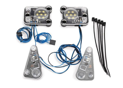 8027: Traxxas LED Headlight/Tail Light Kit (fits #8011 body, requires #8028 power supply)