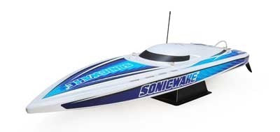"ProBoat Sonicwake 36"" Self-Righting Brushless Deep-V RTR, (White)"