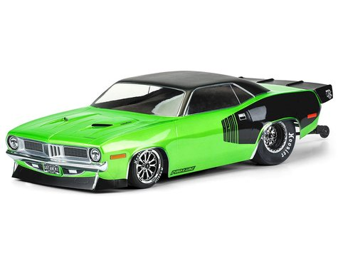Pro-Line 1972 Plymouth Barracuda Short Course No Prep Drag Racing Body (Clear) (PRO355000)