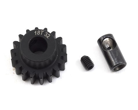 ProTek RC Steel 32P Pinion Gear w/3.17mm Reducer Sleeve (Mod .8) (5mm Bore) (18T) (PTK-8061)