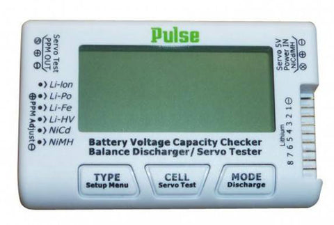 Pulse PLU-CELLMETER8 CellMeter 8 - Lipo Battery Checker & Servo Tester