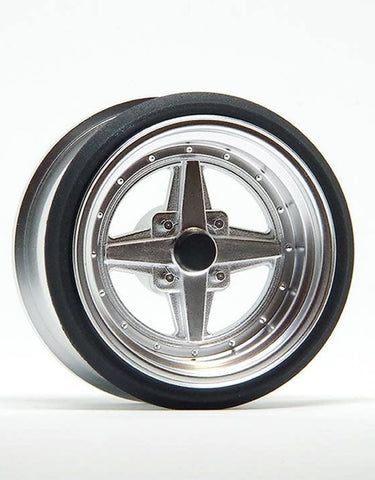 V16D Work Equip 01 Aluminum Silver Wheels by Scale Dynamics 10mm