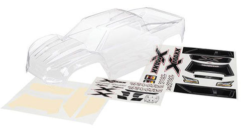7711: Traxxas Body, Clear with Decal Sheet: X-Maxx