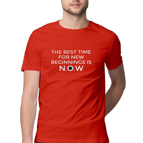 Men's T-Shirt - The Best Time for New Beginnings is Now