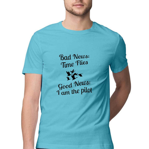 Men's T-Shirt - Time Flies, But I am the Pilot