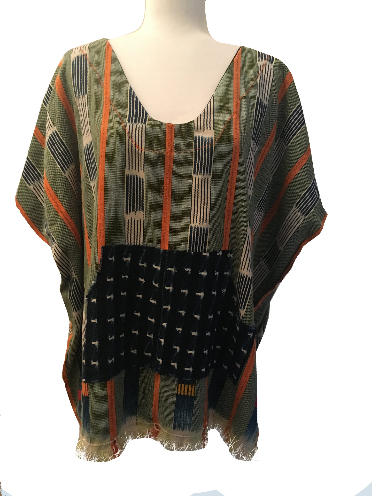 Vintage Cloth v-neck Poncho