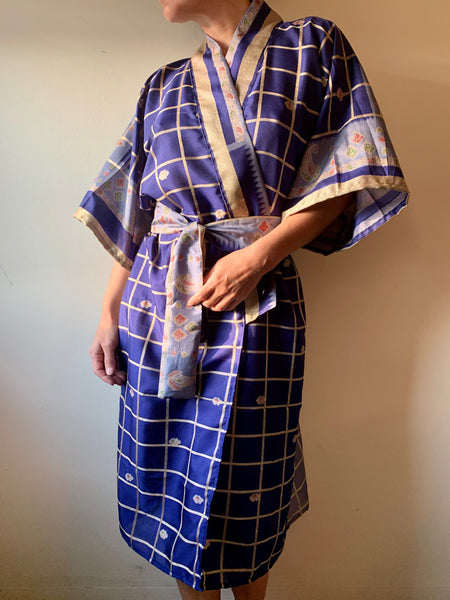 Royal Blue Plaid Robe