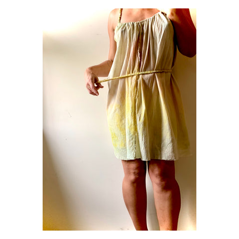 Naturally Dyed Gauze Babydoll Dress
