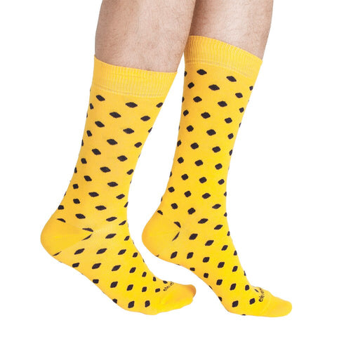 DOTS YELLOW NAVY