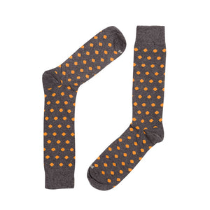 DOTS DARK GREY ORANGE