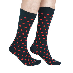 DOTS NAVY RED